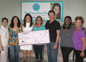 Dance To The Decades Raised $8000.00. Presented the check to Dr. Sanaz Memarzadeh for Ovarian Cancer Stem Cell Research.