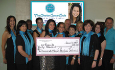The Circle presents a check to UCLA Dr.Sanaz Memarzadeh for $40,000.00